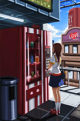 Machine Girl Wallpaper Anime Iphone Wallpaper Idesign Iphone