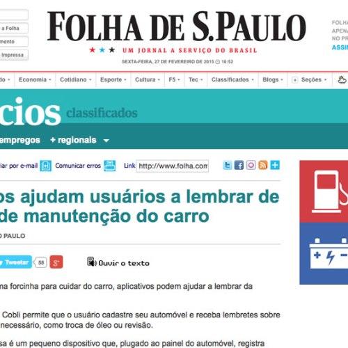 Autocare featured in Folha de São Paulo