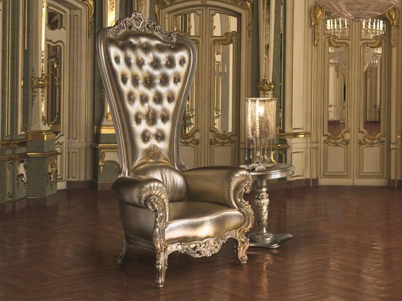... Wooden Dekoriert Sessel, Gesteppte Rückenlehne IDFdesign   Koniglicher  Sessel Caspani ...