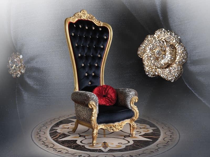... Luxuriöse Kuvertierung Sessel, Mit Wertvollen Oberflächen IDFdesign    Koniglicher Sessel Caspani ...