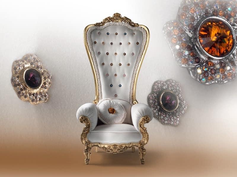 ... Sessel Aus Holz, Für Luxuriöse Residenz IDFdesign   Koniglicher Sessel  Caspani ...