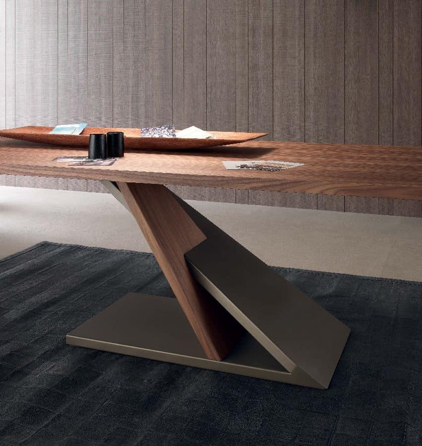 Design Tisch aus furnierter Metall, für Küche IDFdesign - designer tische holz metall