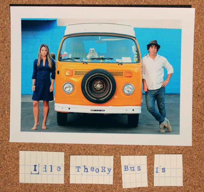 Idle Theory Bus A cartoonist and a photographer hit the road in a small van.