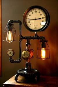 Steam Gauge Industrial Table Lamp  iD Lights