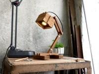 Office Wooden DIY LED Desk Lamp  iD Lights