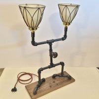 Black Iron Pipe Desk Lamp  iD Lights