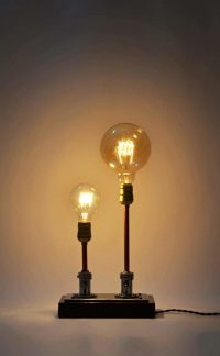 Steampunk Table Lamp Made from Vintage Medical Plugs  iD ...