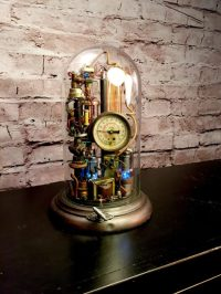 Steampunk Lamp Art Sculpture  iD Lights