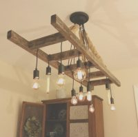 Vintage Farmhouse Ladder Chandelier | iD Lights