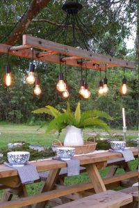 Outdoor Antique Farmhouse Ladder Chandelier with Vintage ...