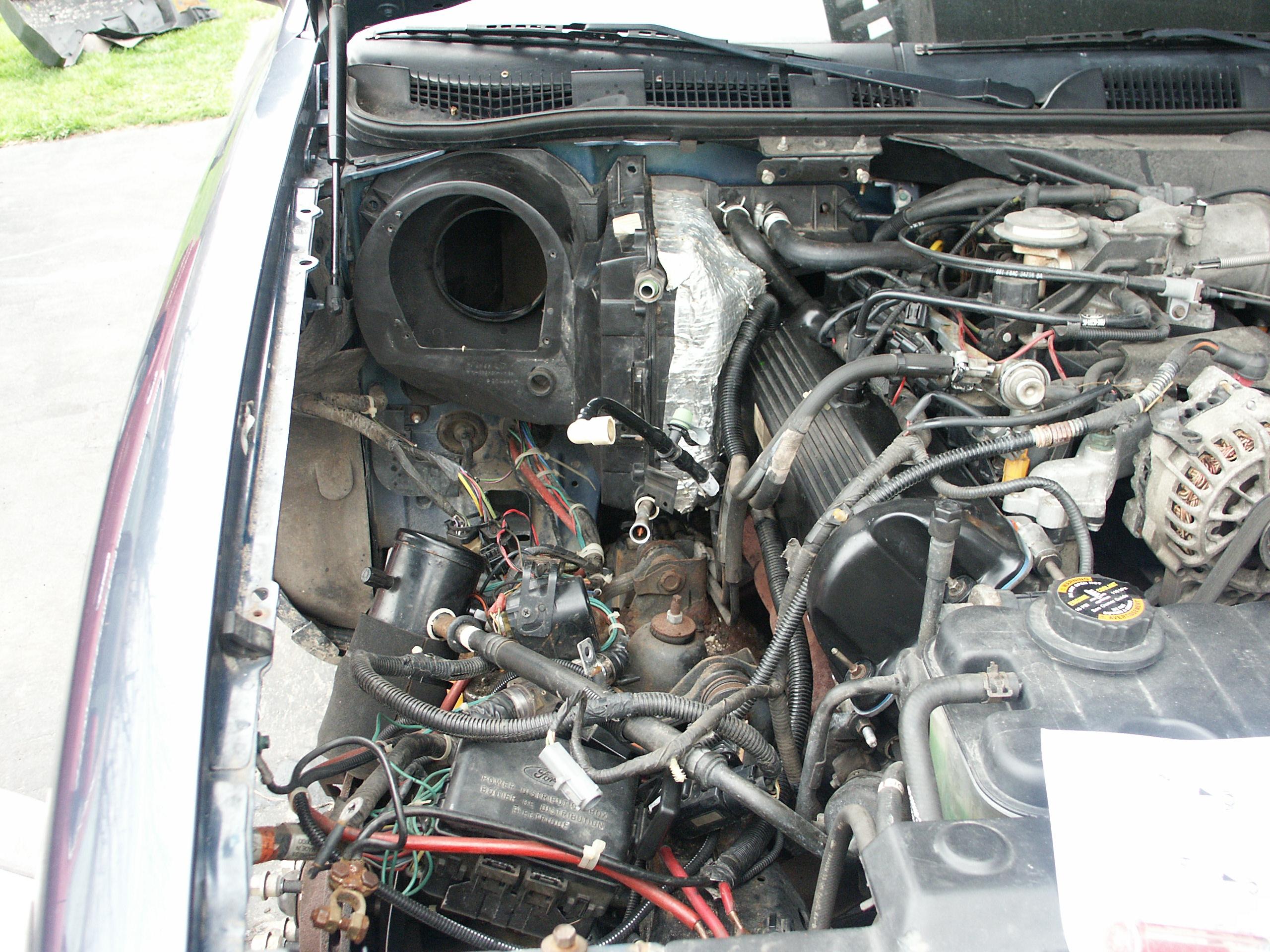 1993 Ford Evaporator Removal