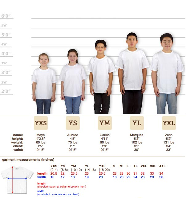 Custom Shirt Sizing Guide Order Shirts Made Easy Iverson Designs