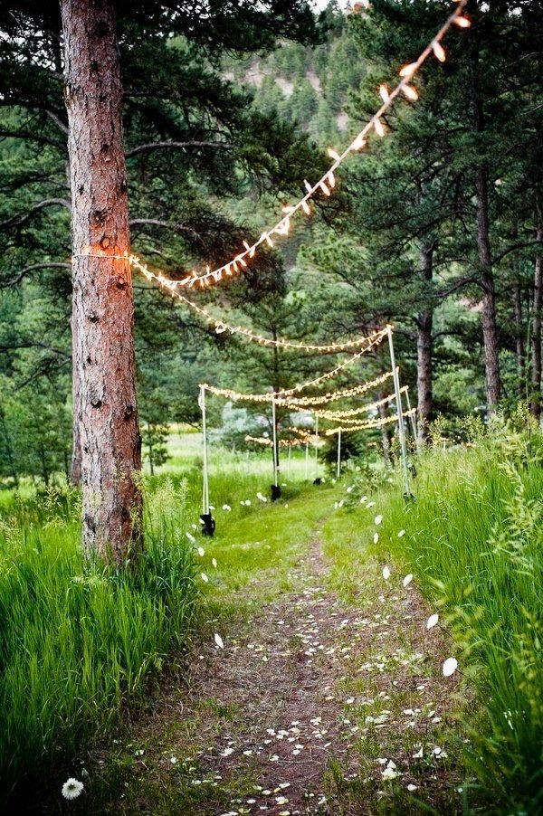 Best Way To String Lights On A Real Tree : I Do Take Two Vow Renewal Ideas Set The Scene With These Amazing Outdoor Wedding Ideas