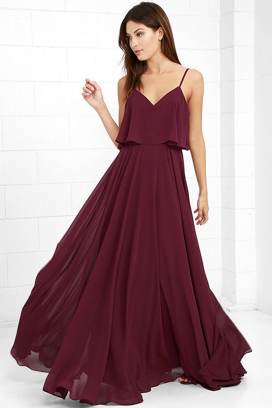 And finally, a cranberry-colored layer piece will look good on all of your ladies and welcome in the fall.
