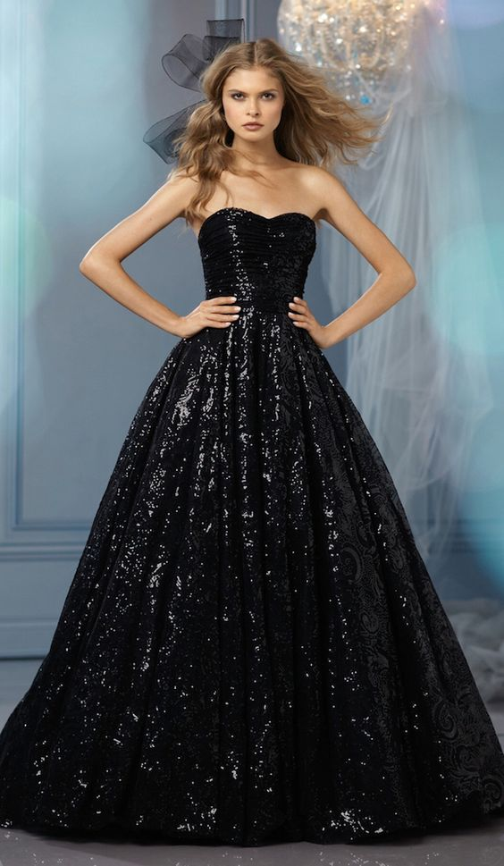 Of course, you can always sparkle too in this glittering ball gown.