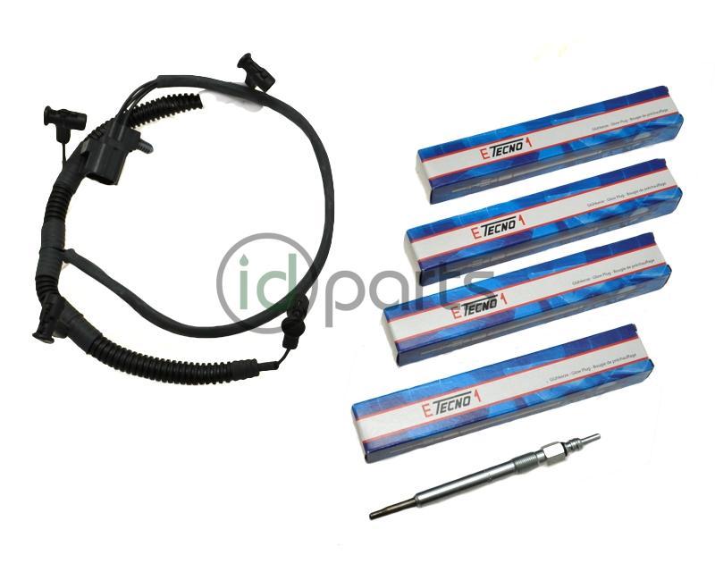 Glow Plug and Harness Kit (Liberty CRD) - 5142576AA 68090430AA