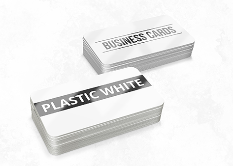 Business Cards - Plastic White - Non Tear and Waterproof Business Cards