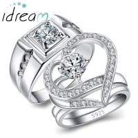 Men's Engagement Ring with Cubic Zirconia Diamond Accents ...