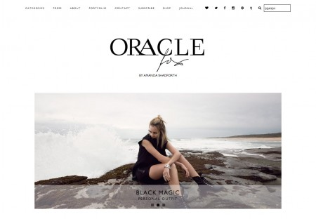 Oracle Fox - Fashion blog Wordpress Theme designed byOracle Fox - fashion blogger templates