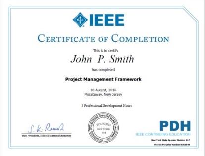 IEEE - IEEE Certificates Program