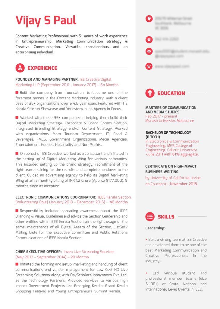 7 Tips To Creating a Creative Resume \u2013 IEEE