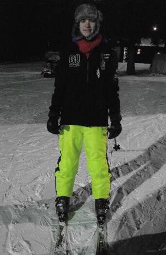 Joey skiing