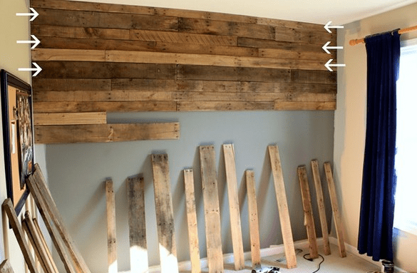 wood pallet wall pinterest inspiration