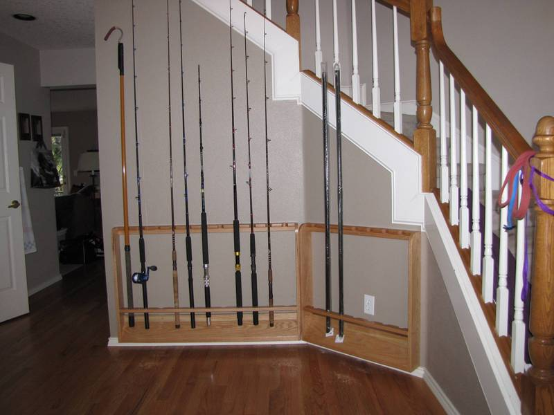 Fishing Rod Rack Diy With Pictures And Steps Www