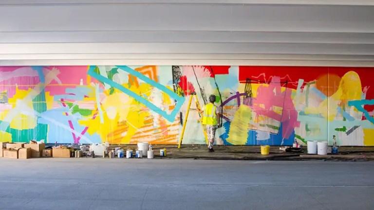 detroit MI garage mural hense IIHIH