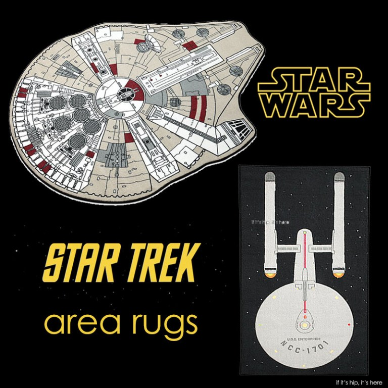 star wars and star trek area rugs