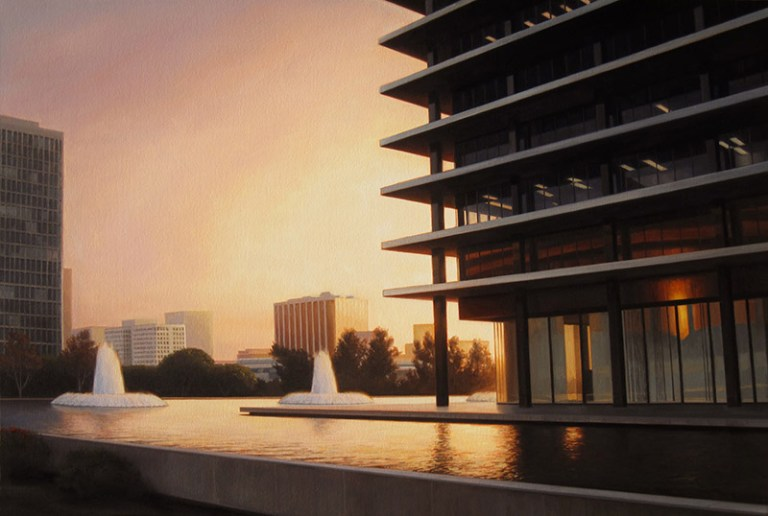 Paintings of a Mid-Century Modern Los Angeles