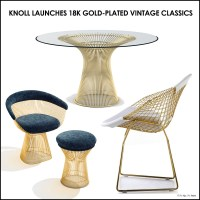 Knoll 18k Gold-Plated Vintage Classics Bertoia and Platner