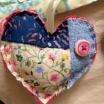 Pink Buttom Heart