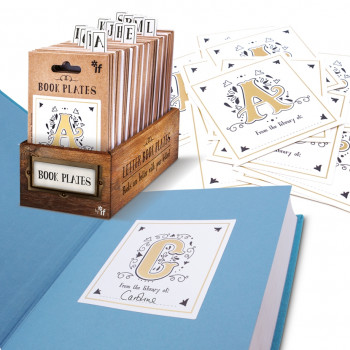 Letter Book Plates - Ex-librīs Book Labels - IF