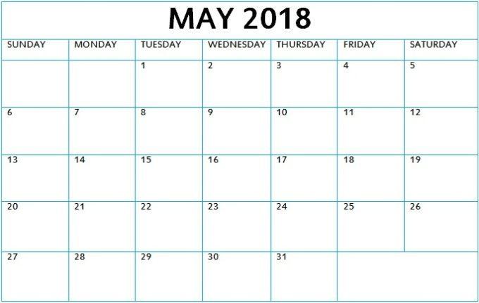 May 2018 Calendar Malayalam
