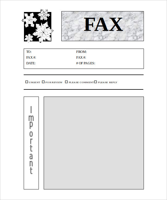 template for fax cover sheet - zrom