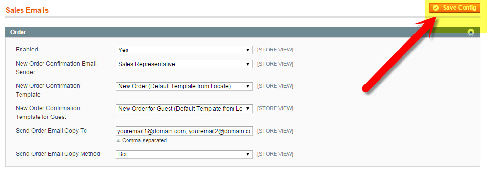 How to Send Yourself a Copy of Order Confirmation Emails in Magento