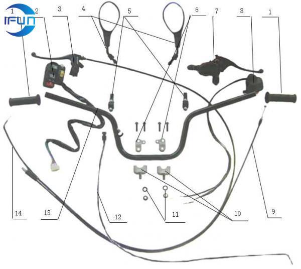 ODES 400CC ATV Handlebar-Product Center-Zhejiang Ifun ATV Parts Co,Ltd-