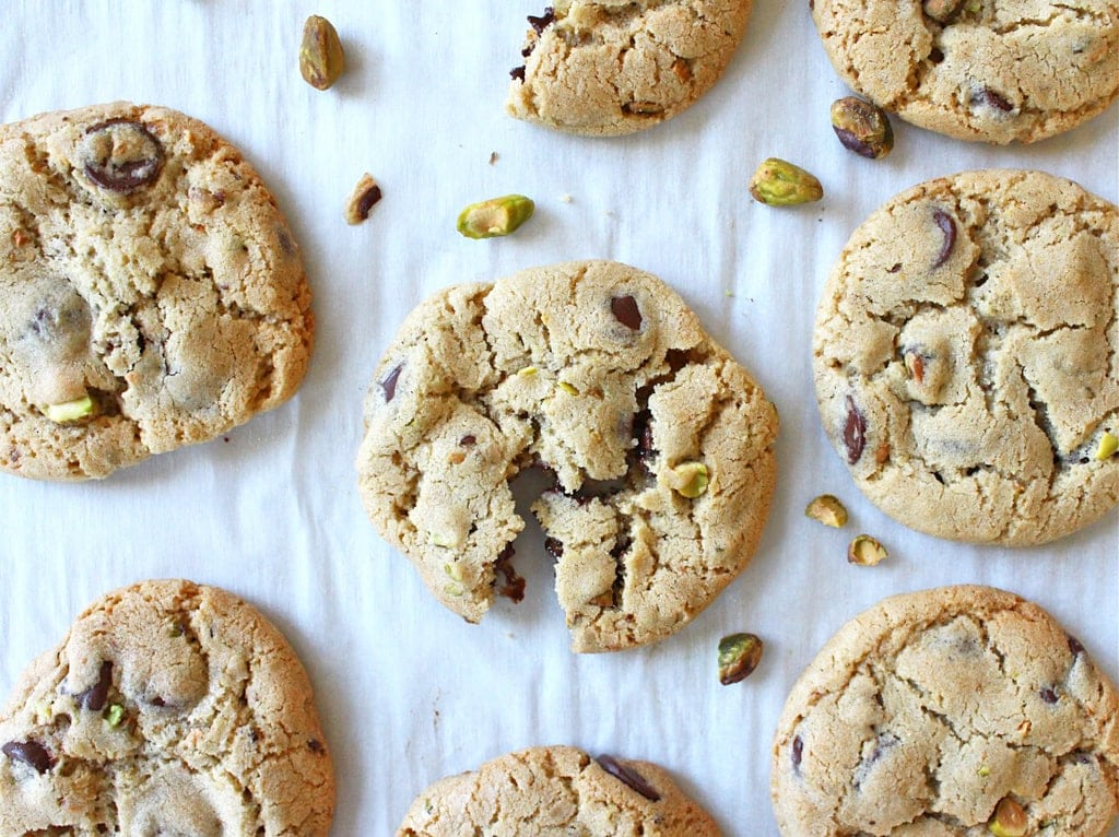 Pistachio Chocolate Chunk Cookies with Sea Salt | If You Give a Blonde ...
