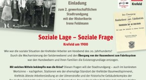 Einladung zum 2. gewerkschaftlichen Stadtrundgang mit der Historikerin Irene Feldmann