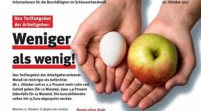 Tarifrunde 2017 Schlosserhandwerk: Das Angebot der Arbeitgeber – Weniger als Wenig