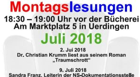 Montagslesungen und Veranstaltungstipps im Juli