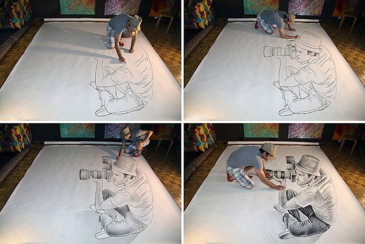 3D Pencils Drawings by Ben Heine iGNANT