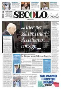 La copertina odierna della nuova edizione del Secolo d'Italia