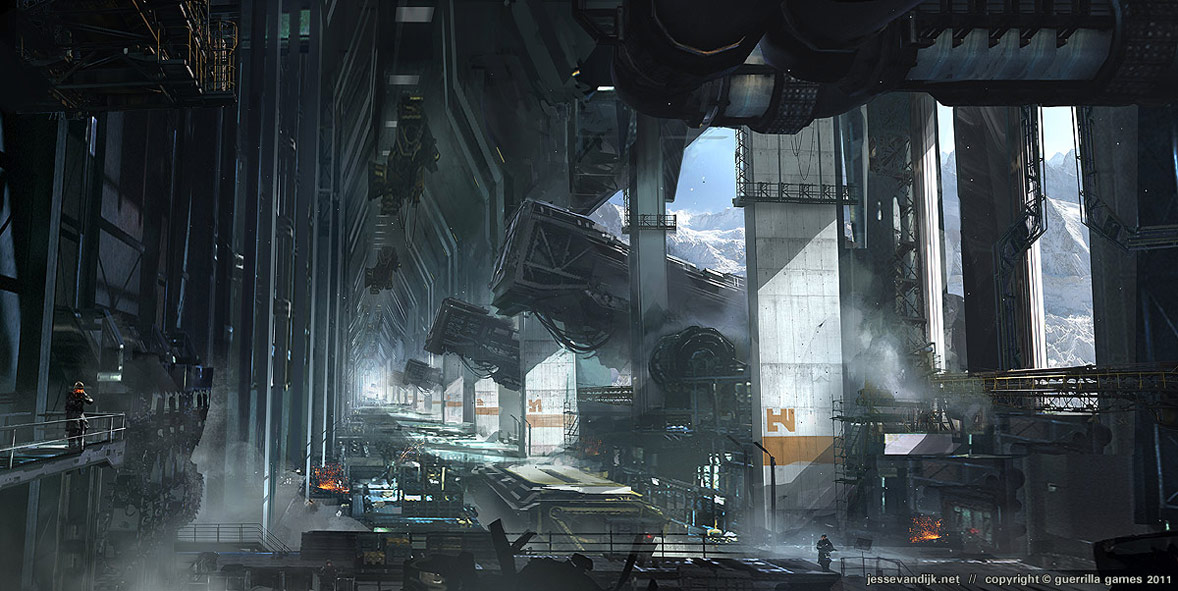Killzone Shadow Fall Wallpaper 1080p Space Station Concept Art Pics About Space