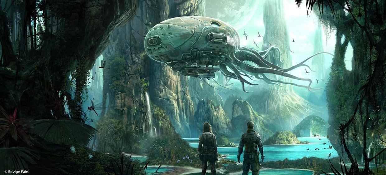 Alien Planet Windows 7 3d Wallpaper Concept Ships October 2013