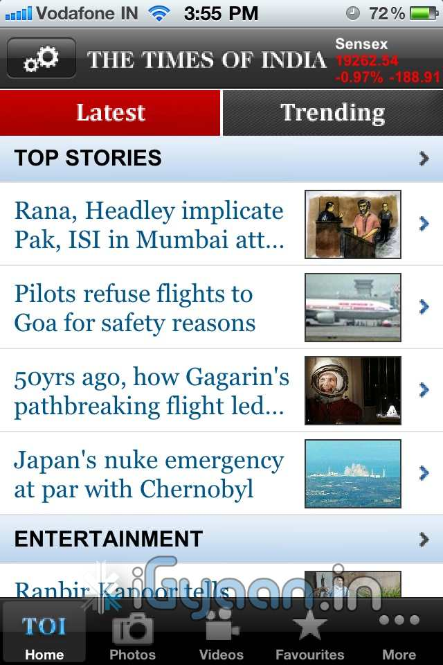 Times of india app free download