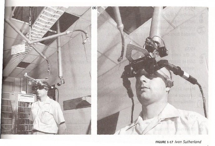 Sword of Damocles was the first computer aided VR headset.