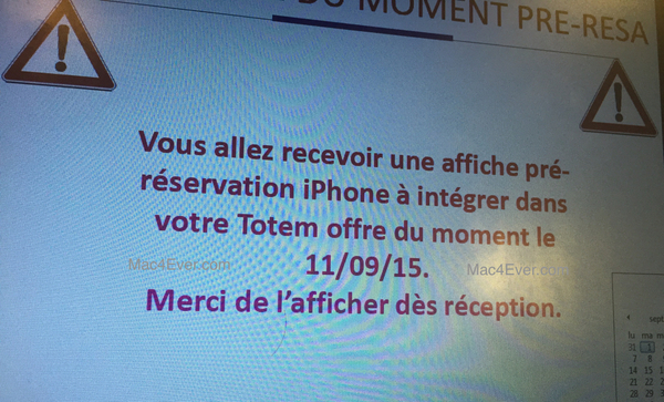 iphone 6S rumour french