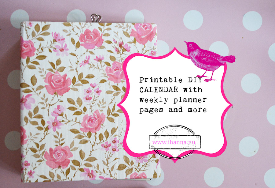 Undated Printable Calendar for a whole year - print today iHanna\u0027s